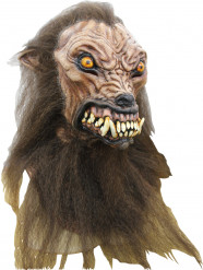 Maschera integrale cane-lupo mannaro Halloween