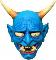 Maschera da demone Oni di colore blu