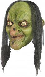 Maschera da strega con pelle verde per Halloween