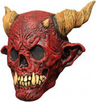 Maschera da scheletro della morte di colore rosso per Halloween