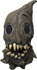 Maschera di Halloween da mostro nel sacco con denti affilati