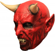 Maschera con corna Halloween: demone rosso