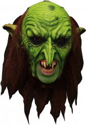 Maschera 3/4 elfo verde spaventoso con dentiere