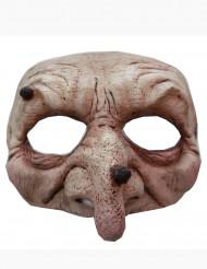 Mezza maschera strega/stregone adulto Halloween