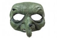 Mezza maschera strega verde Halloween