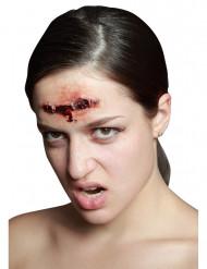 Finta ferita da spillatrice trucco di Halloween