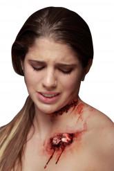 Trucco Halloween: finta ferita con osso sporgente