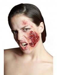 Finta infezione alla guancia trucco Halloween