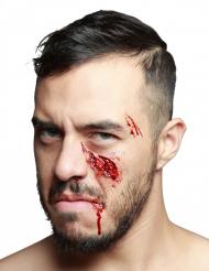Trucco Halloween: finta ferita alla guancia