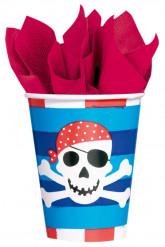 8 bicchieri di carta sorriso del pirata