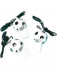 12 fischietti in tema pallone da calcio