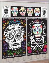 5 Decorazioni murali Halloween messicano