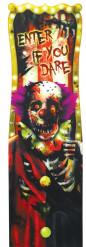 Decorazione murale Halloween: clown horror