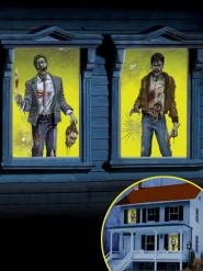 2 decorazioni da finestra Zombie