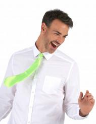 Cravatta verde fluo adulto