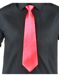 Cravatta color salmone fluo adulto