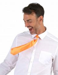 Cravatta arancione fluo adulto
