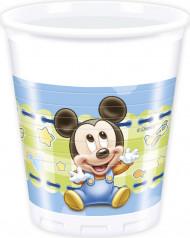 8 Bicchieri di plastica Baby Mickey™
