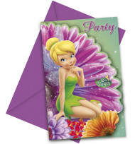 6 Cartoncini d'invito Disney fairies™