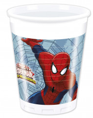 8 Bicchieri plastica Spiderman™ 200 ml