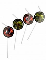 6 Cannucce con medaglione Star Wars™