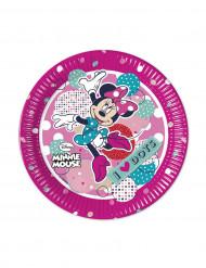 8 piccoli piatti di cartone Minnie™