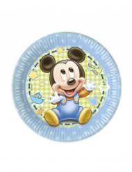 8 Piattini di carta Baby Mickey™