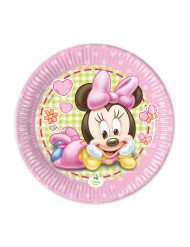 8 Piattini di carta Baby Minnie™