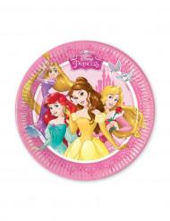 8 Piattini di carta Principesse Disney™ 20 cm