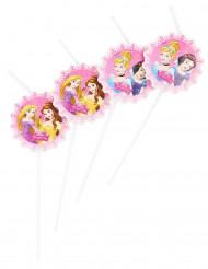 6 Cannucce con medaglione Principesse Disney™