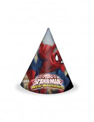6 Cappelli di carta Spiderman™