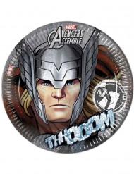 8 piatti grigi di cartone Avengers™