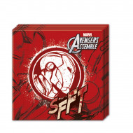 20 tovaglioli di carta rossa Avengers™