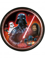 8 Piattini di carta Dart Fener di Star Wars™