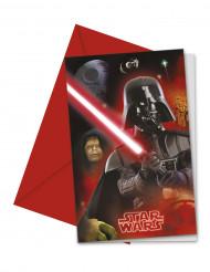 6 Cartoncini d'invito Star Wars™