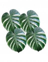 4 Foglie di palma da cocco in plastica verde
