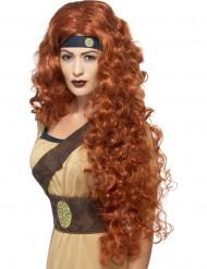 Parrucca regina guerriera rossa donna