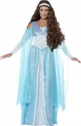 Costume principessa medievale azzurro donna