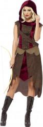 Costume da cacciatrice dei boschi per donna