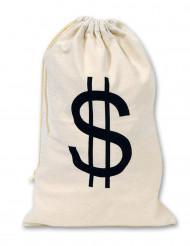 Sacco di tessuto simbolo dollari