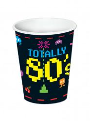 8 Bicchieri in cartone anni '80 266 ml