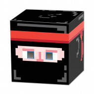 Maschera a cubo ninja pixellato anni '80