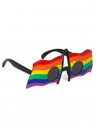 Occhiali con bandiera multicolore