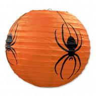 3 lanterne zucca di carta con ragni