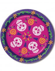 8 piatti dia de los muertos