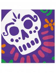 16 tovaglioli di carta dia de los muertos