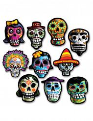 Confezione di 10 decorazioni in cartone di Halloween