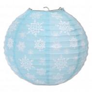 3 lanterne di carta fiocco di neve