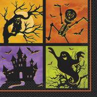 20 tovaglioli di carte notte di Halloween