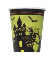 8 bicchieri di cartone notte di Halloween
